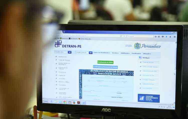 No site do Detran é possível imprimir a via já com a multa, mas é preciso ter CPF do proprietário em mãos - Peu Ricardo/Esp. DP