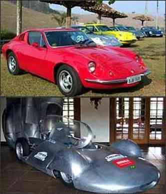 Alguns exemplares do Puma também marcaram presença na mostra. Réplica do Carcará, modelo que bateu primeiro recorde de velocidade brasileiro