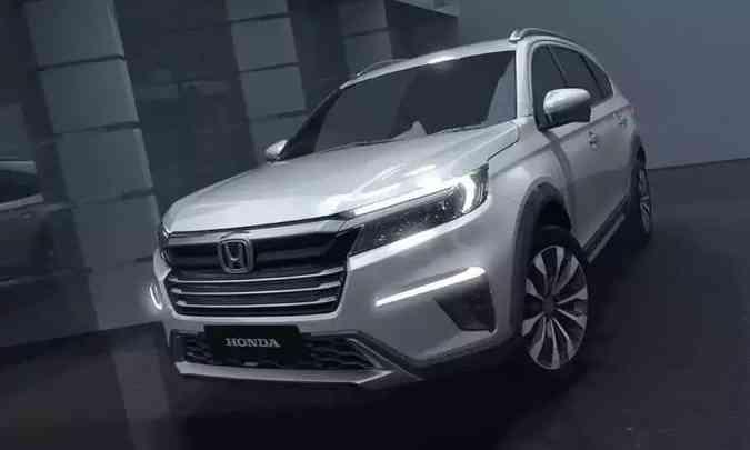 Novo SUV compacto da Honda será versão de produção do conceito N7X, um SUV de sete lugares pensado para mercados emergentes(foto: Honda/Divulgação)