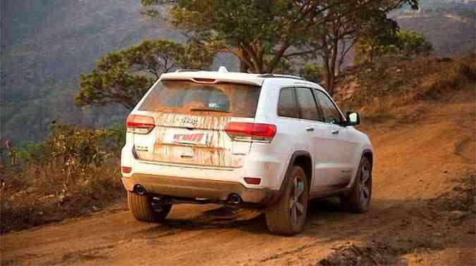 Robusto, SUV encara trilhas de diferentes níveis com facilidade(foto: Thiago Ventura/EM/D.A PRESS)