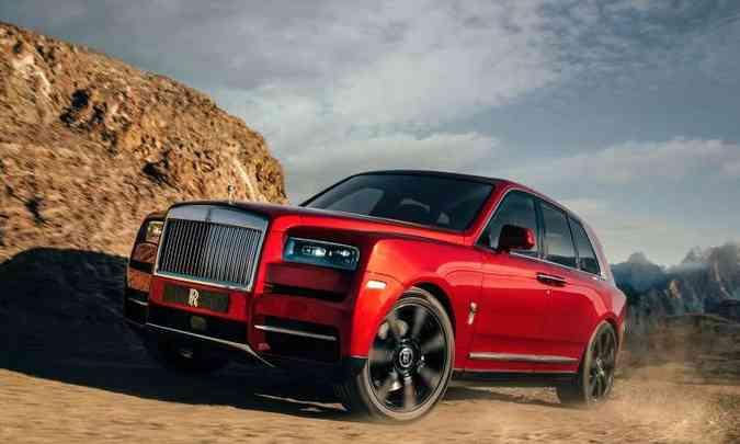 A Rolls-Royce lançou seu primeiro SUV, o Cullinan(foto: Rolls-Royce/Divulgação)