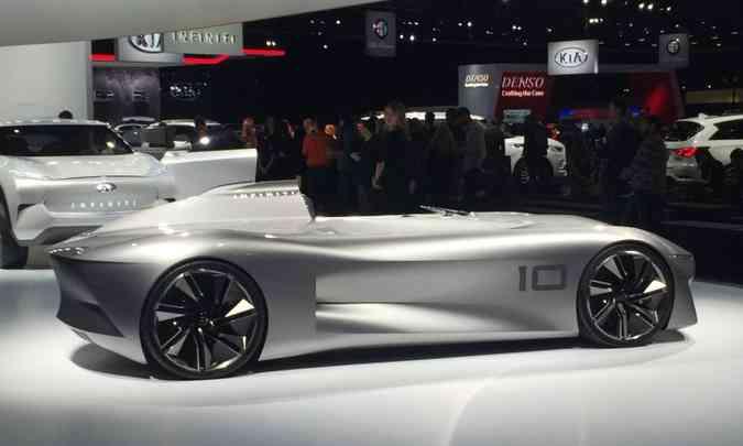 O Infiniti 10 Inspiration é equipado com motor elétrico de alta performance(foto: Enio Greco/EM/D.A Press)