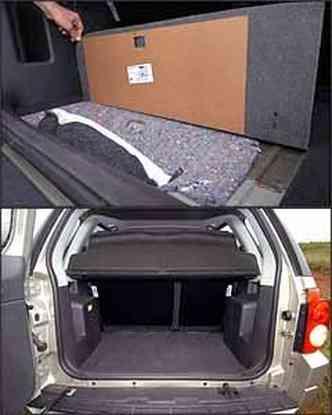 Ponto negativo: detalhe de acabamento. Porta-malas tem 292 l de capacidade(foto: Fotos: Marlos Ney Vidal/EM - 3/1/08)