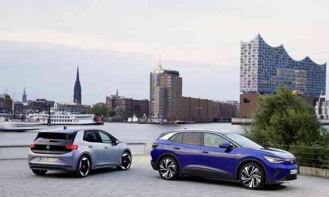 Os designers da VW receberam o desafio de desenhar os integrantes da família ID sem semelhança com os modelos a combustão(foto: Volkswagen/Divulgação)