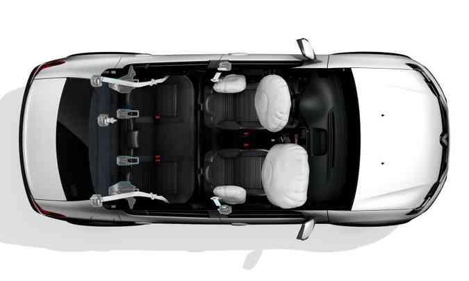 Quatro airbags agora são de série(foto: Renault/Divulgação)