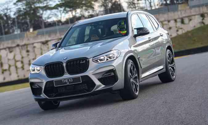 O SUV BMW X3 na versão M Competition é equipado com motor de 510cv(foto: Rodrigo Ruiz/BMW/Divulgação)