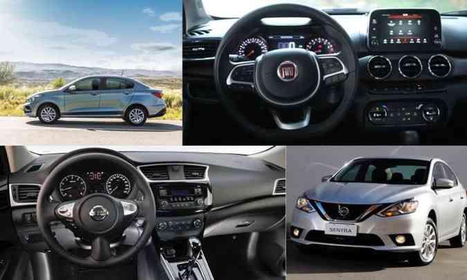 (foto: Colagem com fotos de divulgação da Nissan, Fiat , além de Edésio Ferreira/EM/D.A Press)
