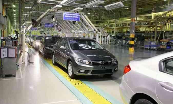 A fábrica da Honda em Sumaré, no interior paulista, deverá retomar a produção em 12 de abril(foto: Honda/Divulgação)