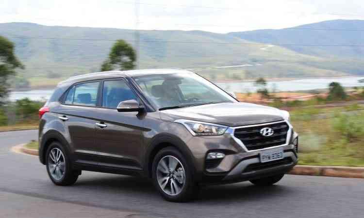 Hyundai Creta deu uma rasteira no Jeep Renegade e assumiu a segunda colocação dos SUVs compactos - Gladyston Rodrigues/EM/D.A Press