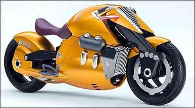 Modelo Biplane é integralmente carenado e tem grande volume(foto: Fotos: Suzuki/Divulgação)