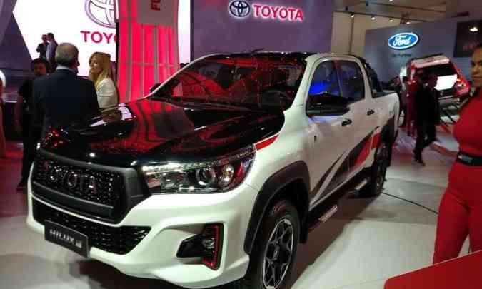 Hilux GR-S é preparada pela Toyota Gazoo Racing no Brasil(foto: Pedro Cerqueira/EM/D.A Press)