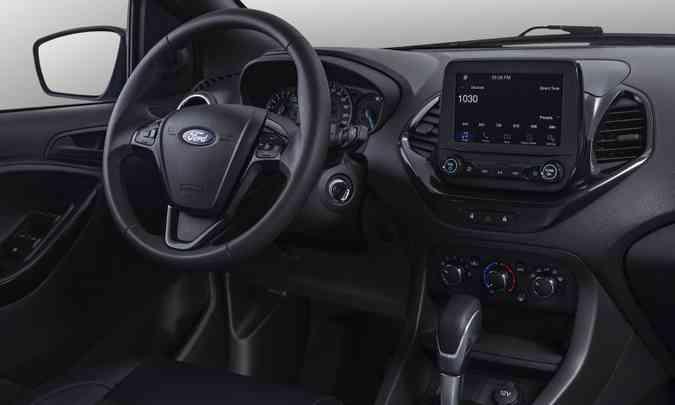 Ford EcoSport 100 Anos tem todo o interior em preto(foto: Ford/Divulgação)