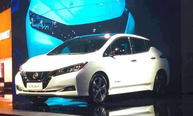 O elétrico Nissan Leaf chega ao Brasil no ano que vem por R$ 178.400(foto: Pedro Cerqueira/EM/D.A Press)