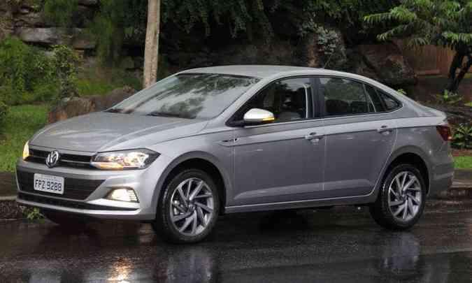 Plataforma modular permite que o Virtus tenha mais entre-eixos que o hatch VW Polo(foto: Juarez Rodrigues/EM/D.A Press)