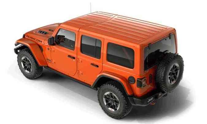 Modelo mantém suas características originais, com linhas retas na carroceria e estepe na traseira(foto: Jeep/Divulgação)