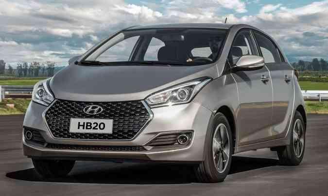 O Hyundai HB20 1.0 Unique tem boa lista de equipamentos por R$ 43.990(foto: Hyundai/Divulgação)