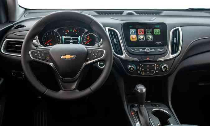 A central multimídia com tela tátil de oito polegadas traz GPS(foto: Chevroletr/Divulgação)