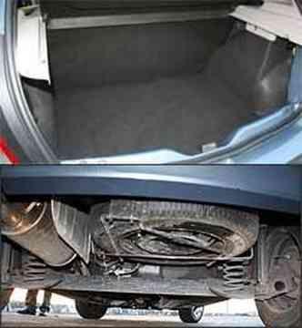 Porta-malas de 320 litros é o maior entre os hatchs compactos. Ponto negativo: estepe fica embaixo(foto: Marlos Ney Vidal/EM/D.A Press - 30/06/08)