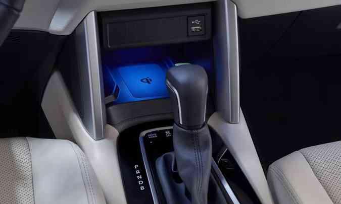 A versão especial do SUV médio tem câmbio automático e carregador de celular por indução(foto: Toyota/Divulgação)