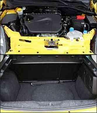 Motor com turbocompressor proporciona desempenho impecável. Já o porta-malas pequeno é um dos pontos negativos do hatch compacto(foto: Marlos Ney Vidal/EM/D. A Press - 23/3/09)