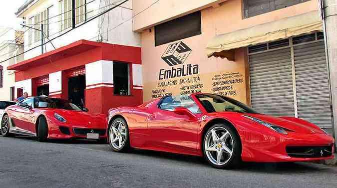 458 Spider e 599 GTO estão entre as Ferraris emplacadas em Itaúna(foto: Igor Herculano/Itaúna Super Carros/Divulgação)