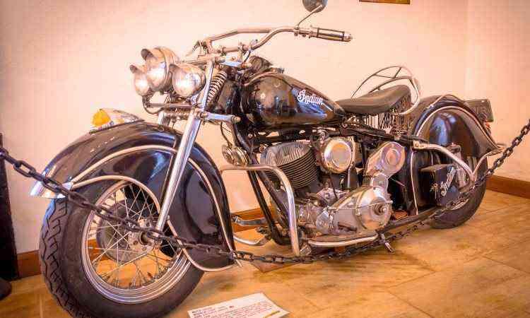 O modelo Indian Chief 1200, ano 1946, tem lugar de destaque no Museu da Moto - Indian Chief/Divulgação