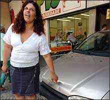 Claudimare Braga teve o carro amassado e não guardou prova -