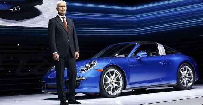 Müller foi operário na Audi e agora assume posto máximo do grupo num momento de crise(foto: REUTERS/Joshua Lott)