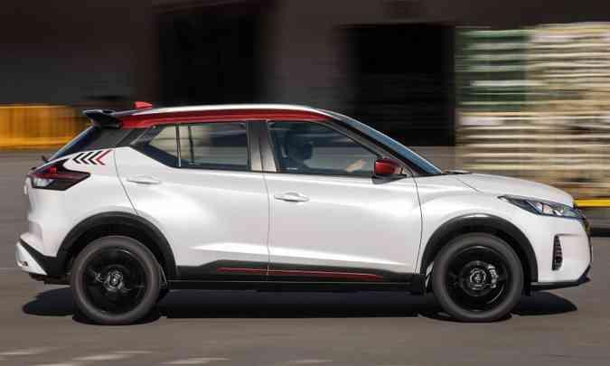 O SUV compacto tem 2,62m de distância entre-eixos, que se traduz em bom espaço interno(foto: Nissan/Divulgação)