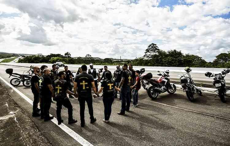A paixão por duas rodas se tornou guia espiritual do Esquadrão de Cristo Ministério Motociclístico. Foto: Paulo Paiva / ECMM -