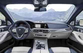 Espaço interno conta com teto panorâmico. Foto: BMW / Divulgação