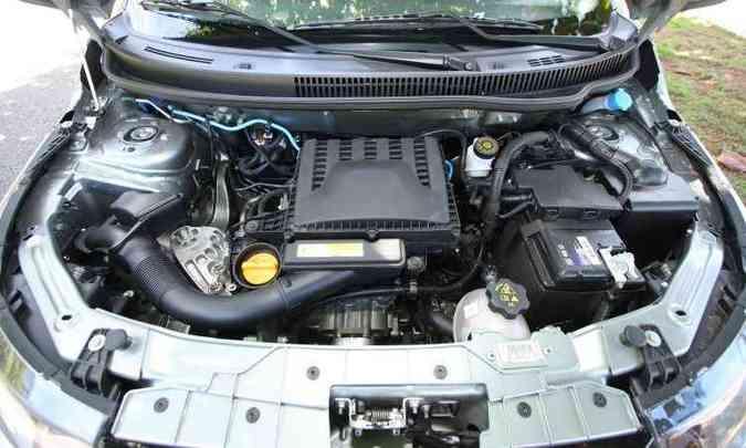 Novo motor 1.0 FireFly de três cilindros não tem desempenho brilhante, mas é muito econômico(foto: Edésio Ferreira/EM/D.A Press)