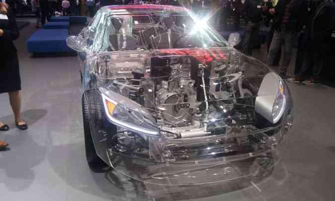 ZF mostrou todas as suas tecnologias de condução autônoma em seu carro transparente(foto: Enio Greco/EM/D.A Press)