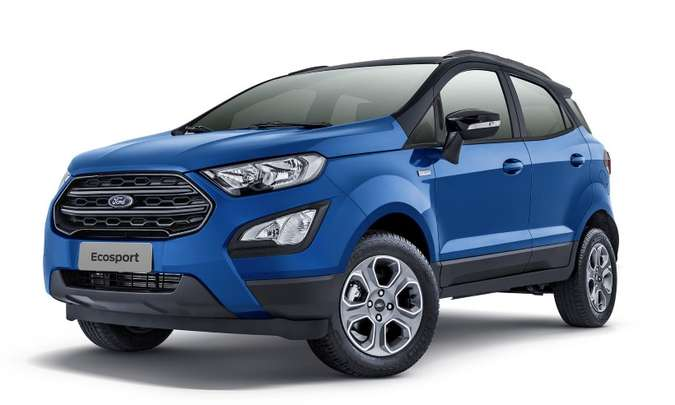 Série comemorativa tem carroceria na cor azul Belize e detalhes em preto, como o teto, rodas e retrovisores(foto: Ford/Divulgação)