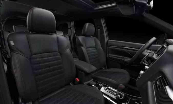 interior do Outlander Black Edition(foto: Mitsubishi/Divulgação)