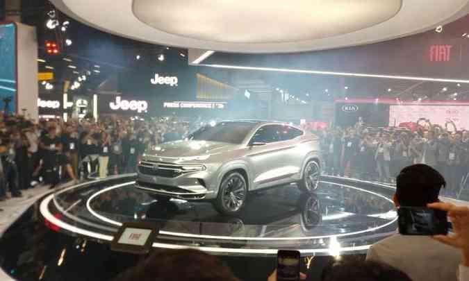A Fiat apresentou o conceito Fastback, que deve dar origem ao SUV derivado da Toro(foto: Pedro Cerqueira/EM/D.A Press)