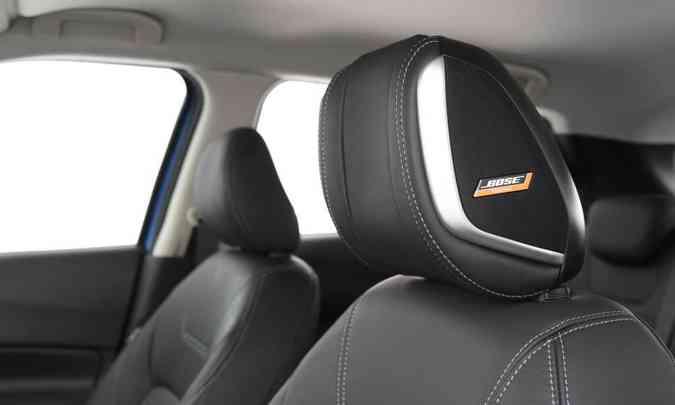 Para experiência sonora imersiva, versão de topo tem caixas de som integradas ao apoio de cabeça do motorista(foto: Nissan/Divulgação)