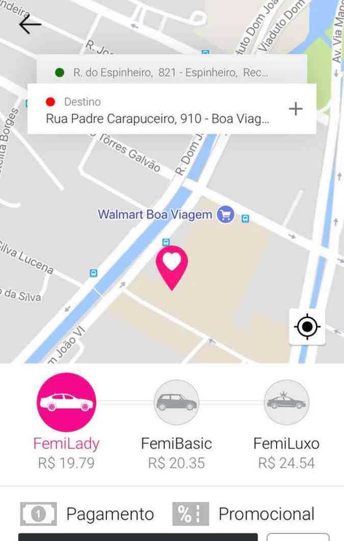 Aplicativo está disponível também em Caruaru e Petrolina(foto: Lizandra Costa / Arquivo Pessoal )