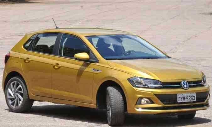 Nova geração do VW Polo usa a plataforma modular MQB AO, que se destaca pela segurança(foto: Jair Amara/EMl/D.A Press)