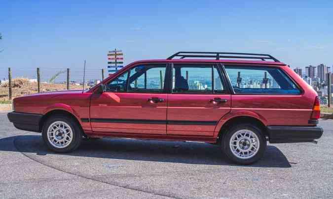 A station wagon da Volkswagen tem 4,63m de comprimento e 2,55m de distância entre-eixos(foto: Jorge Lopes/EM/D.A Press)