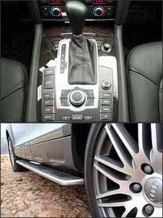 Por meio de botões no console, pode-se regular quase todas as funções do carro. Estribo e rodas de 20 polegadas fazem parte do kit off-road