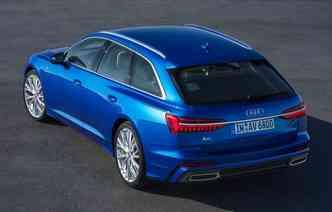 Porta-malas do A6 varia entre 565 litros e 1.680 litros (com os bancos rebatidos). Foto: Audi / Divulgação