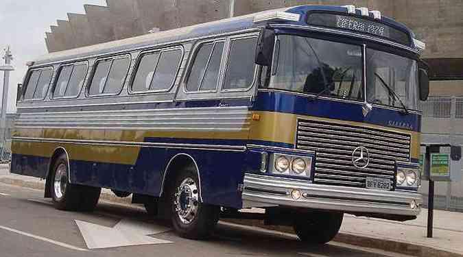 Preciosa relíquia: empresário reforma ônibus Ciferal com mecânica Mercedes(foto: Bruno Freitas/EM/D.A Press)