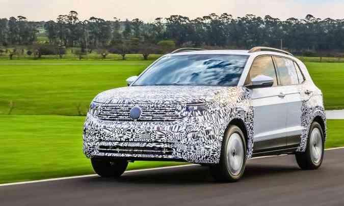 O T-Cross é um SUV equilibrado, pequeno por fora e grande por dentro(foto: Volkswagen/Divulgação)