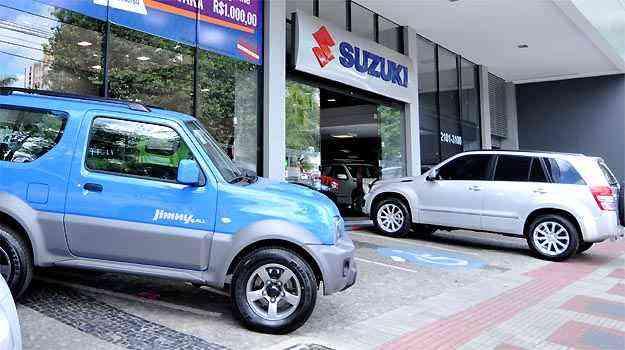 Concessionária Suzuki Via Natsu, em BH - Ramon Lisboa/EM/D.A PRESS