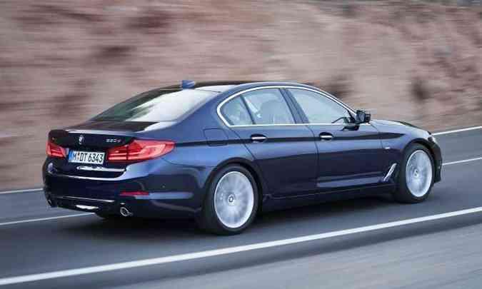 Perfil do BMW Série 5 mantém a elegância, sem abrir mão do arrojo(foto: BMW/Divulgação)