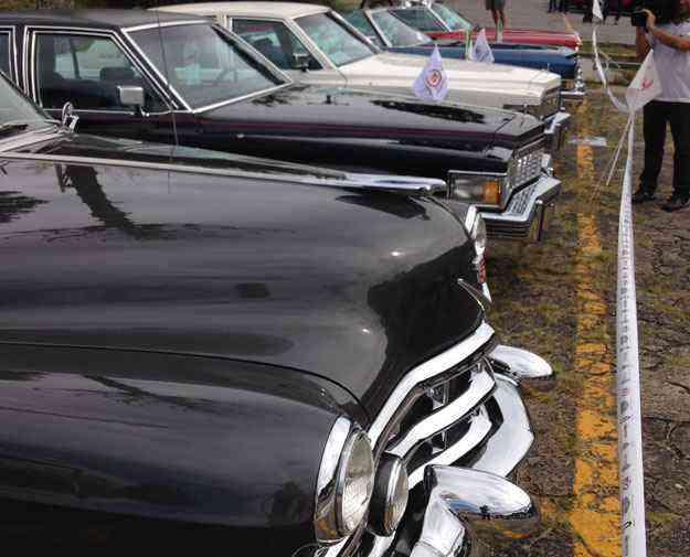 Ala de norte-americanos com a marca de luxo Cadillac - Boris Feldman/EM/D. A Press