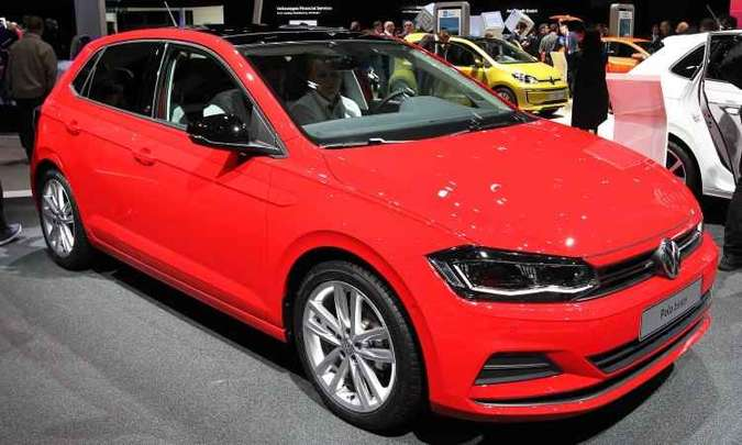 A Volkswagen mostra na Alemanha o novo Polo, que será lançado no Brasil no fim do mês(foto: Daniel Roland/AFP)