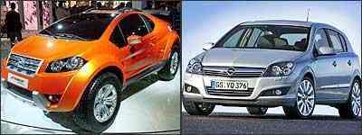 Fiat FCC Adventure e Opel Astra - Salão de Bolonha/Divulgação - General Motors/Divulgação