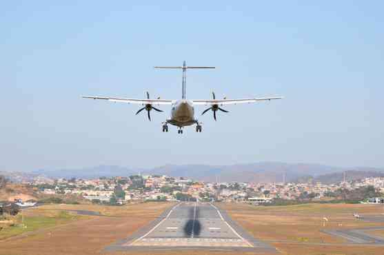 Aeroporto da Pampulha tem as operações dificultadas por causa do esquema do Mundial - Alexandre Guzanche/EM/D.A PRESS